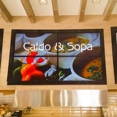 menu board digital para restaurantes em rj